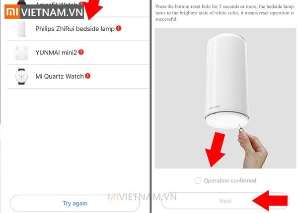 Hướng dẫn kết nối đèn ngủ Philips Xiaomi