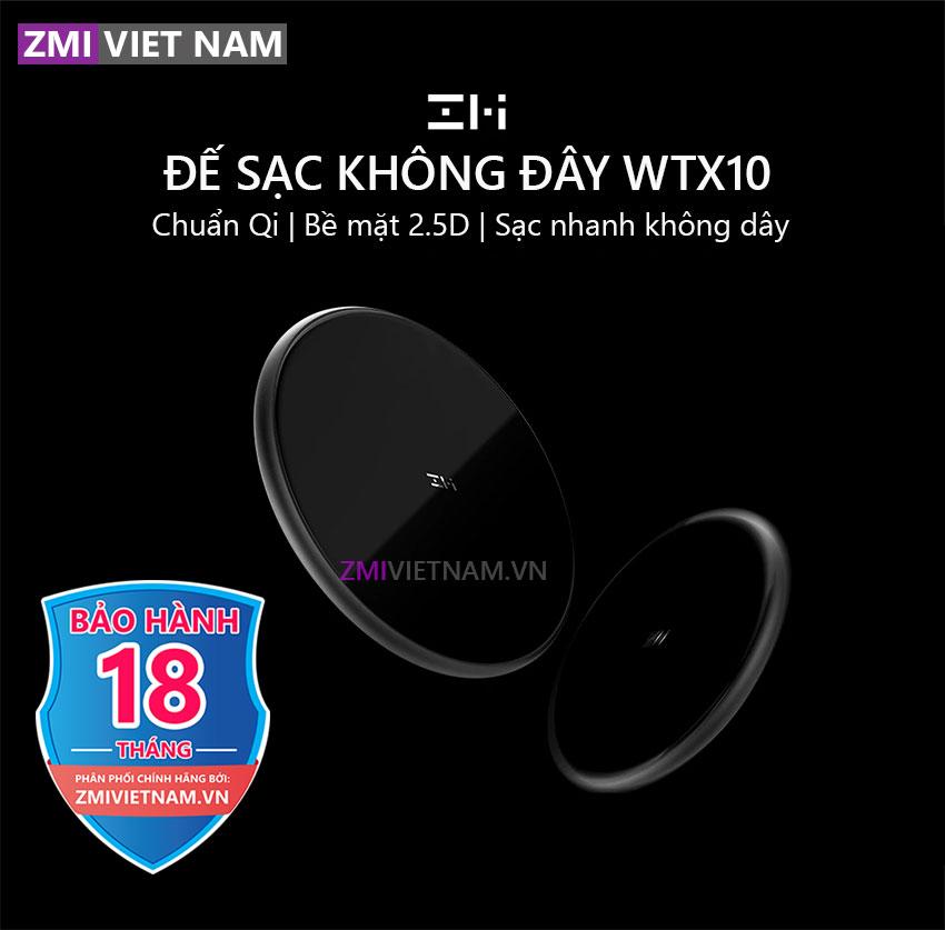 Sạc Nhanh Không Dây ZMI WTX10